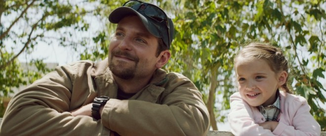 Bradley Cooper and His Daughter in American Sniper