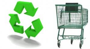 Green Grocery Cart