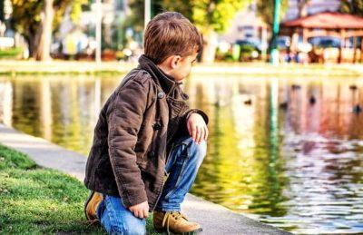 Toddler Next to the Lake